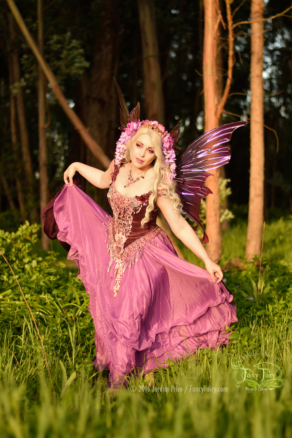Wisteria Fairy in Aphrodite Fairy Wings at Sunset