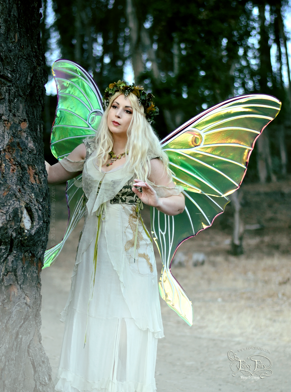 Luna Moth Fairy Peek-a-Boo