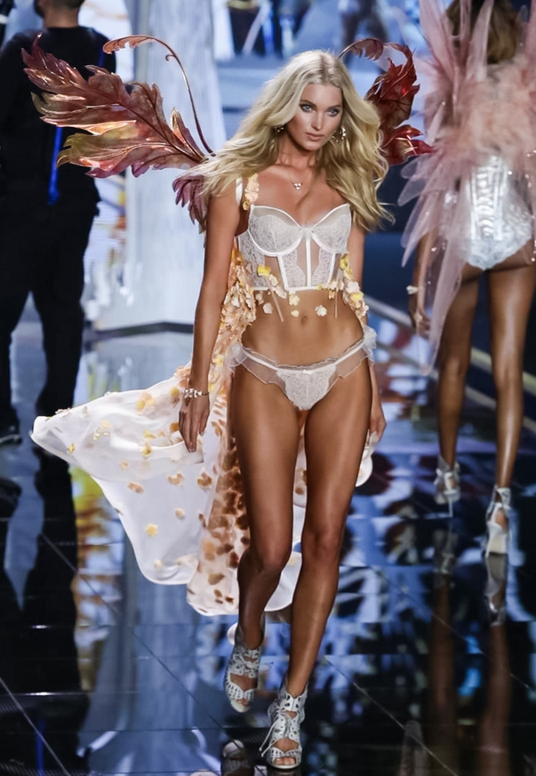 Elsa Hosk in Fancy Fairy Acorn Wings, VS Fashion Show 2014