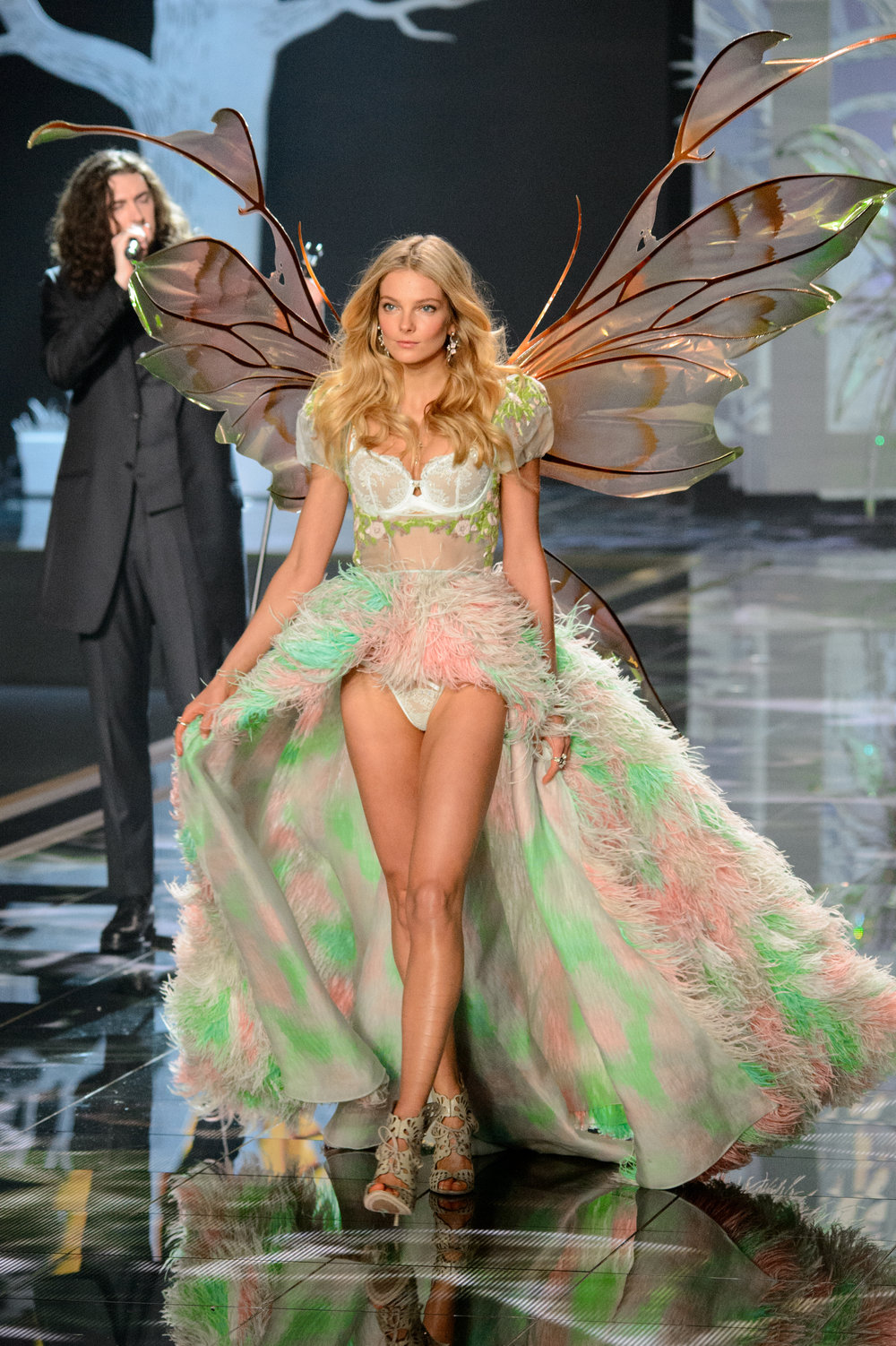 Eniko Mihalik in Giant Kira Fairy Wings at the VS Fashion Show 2014