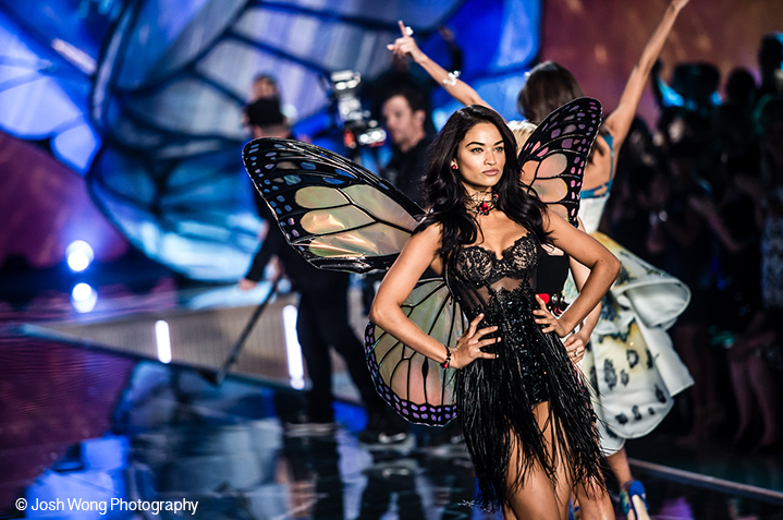 Shanina Shaik in Monarch Wings by Josh Wong Photo