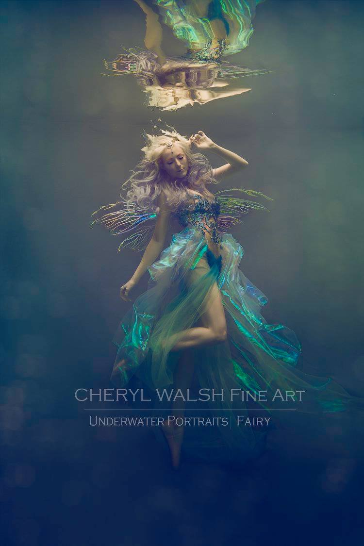 Azure Fairy in Thistle Wings by Cheryl Walsh