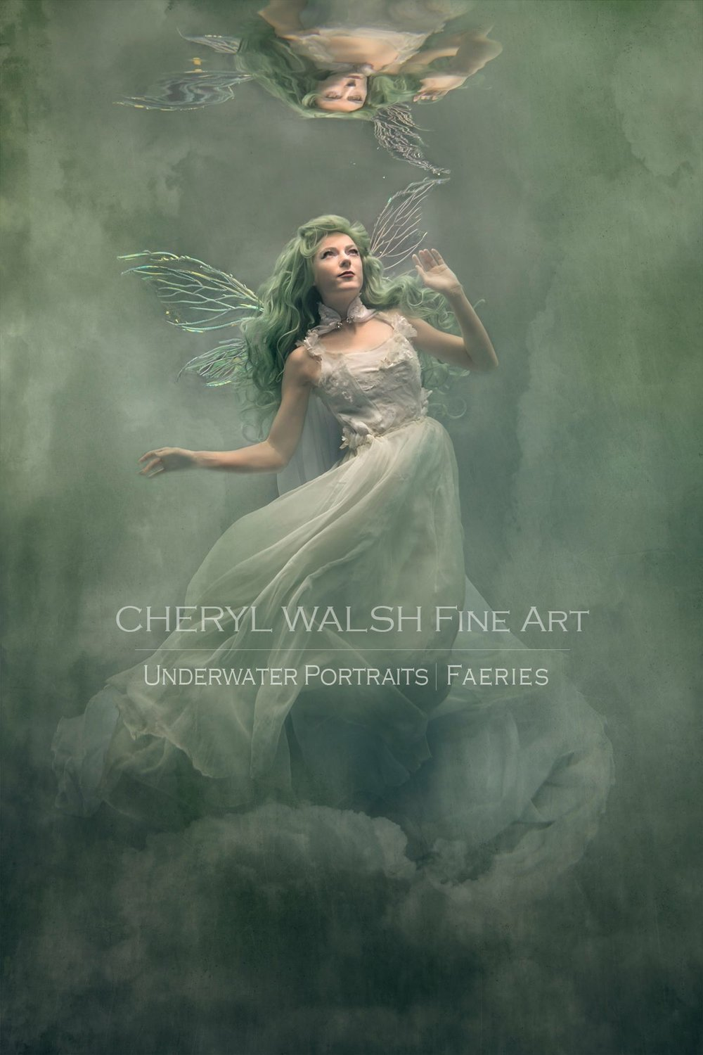Green Fairy in Thistle Wings By Cheryl Walsh