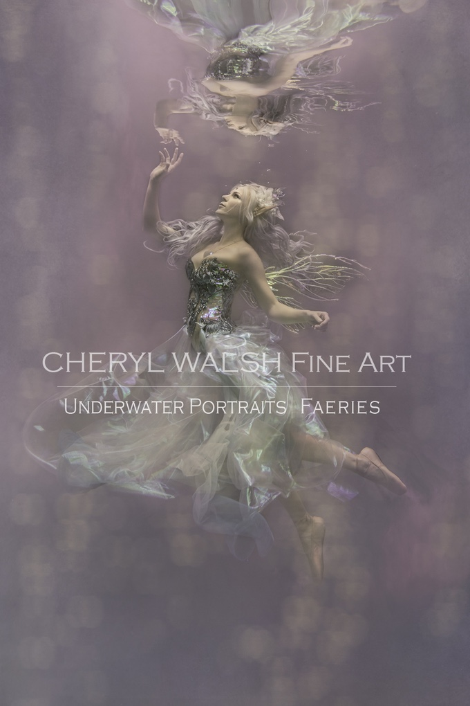 Amethystine Fairy in Thistle Wings by Cheryl Walsh Fine Art