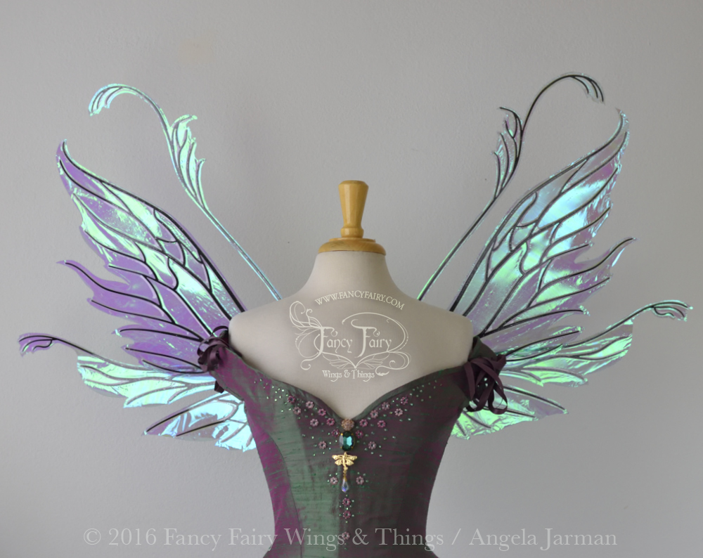 Vivienne Fairy Wings Aquamarine with Black Veins