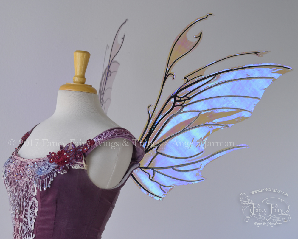 Scythe Fairy Wings in Lilac with Black Veins