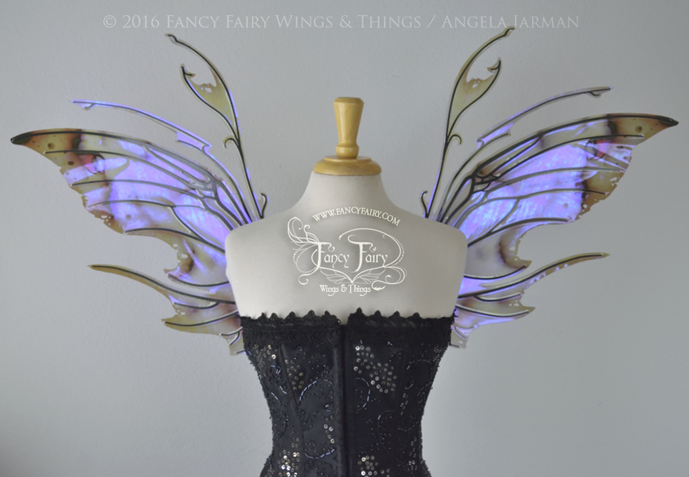 Scythe Fairy Wings in Painted UV with Black Veins