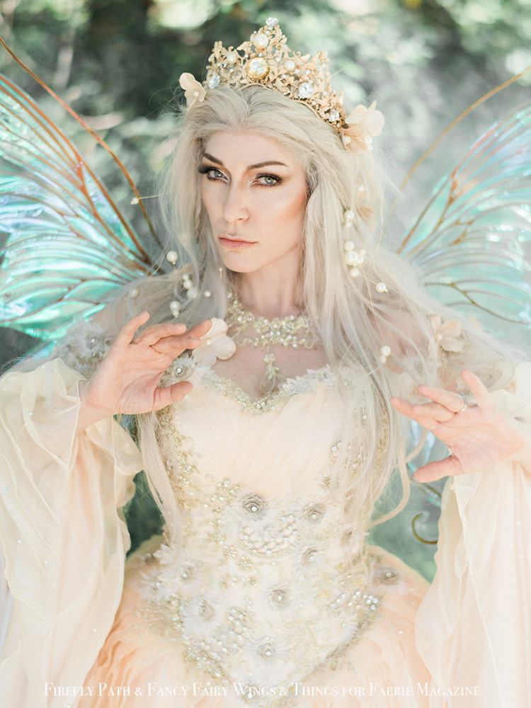 Raiya Corsiglia as Queen Titania for Faerie Magazine