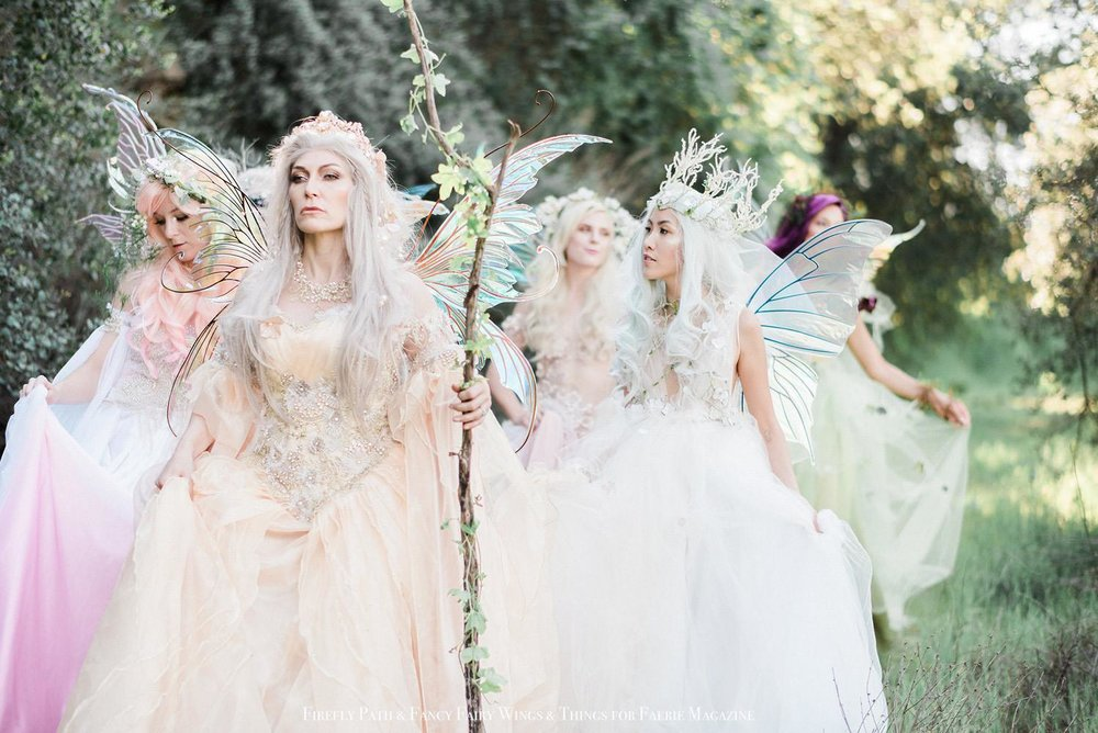Queen Titania and the procession of fairies for Faerie Magazine
