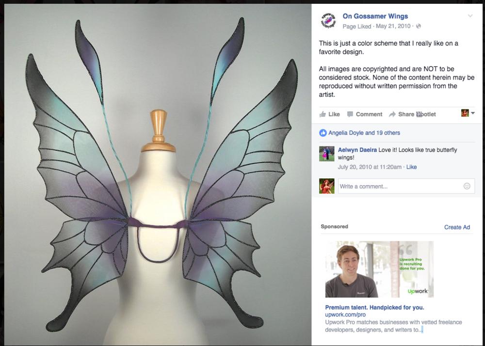 Screen shot from On Gossamer Wings