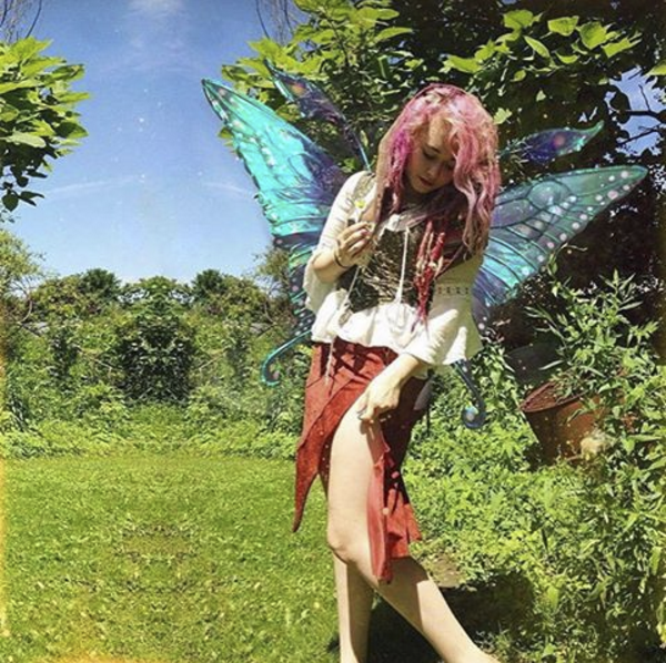 ellie.paisley in my ripped off Swallowtail wings for Fairy Floss Byron Bay