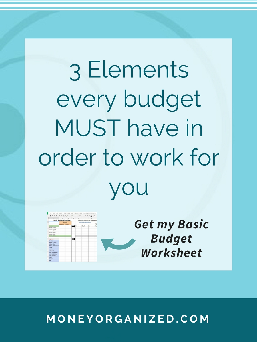 Forget the fancy schmancy tools, spreadsheets, and graphs. If your budget doesn't have these 3 things then it's just numbers on a piece of paper. | Moms + Money Organization | Budgets