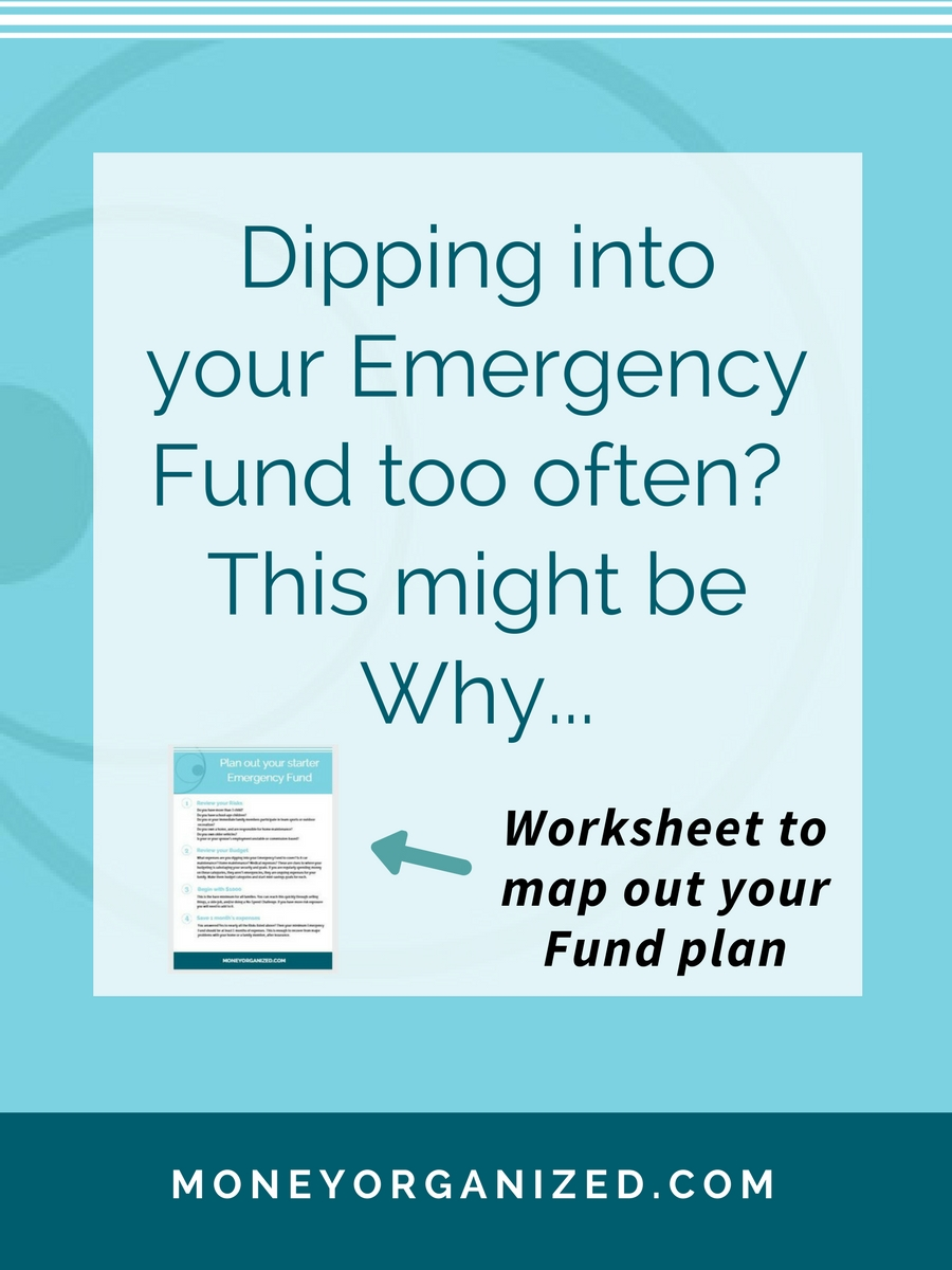Moms + Money | Emergency Fund | Saving Goals + Free Worksheet