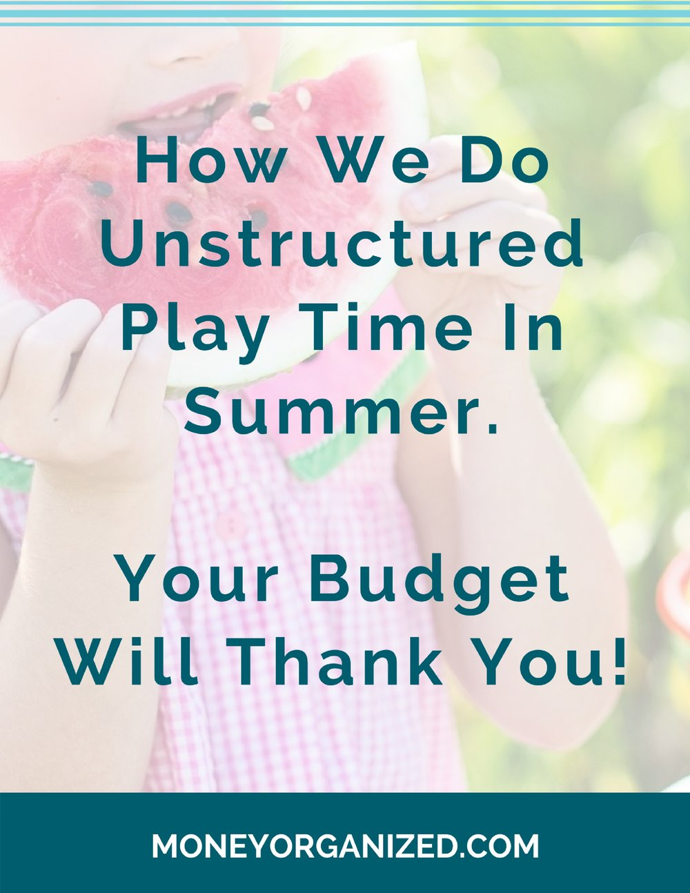 Unstructured playtime...   What does that even mean?    It means that I'm not in charge of entertaining my children.    That's not harsh or heartless. And I'm not a lazy mom either. I'm just recognizing my long-term goal for raising kids. I'm NOT raising kids. I'm raising adults.