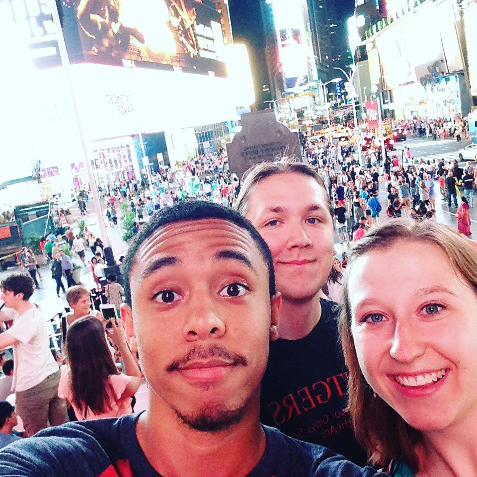 Some of the clarinets just had to take that Time Square photo.