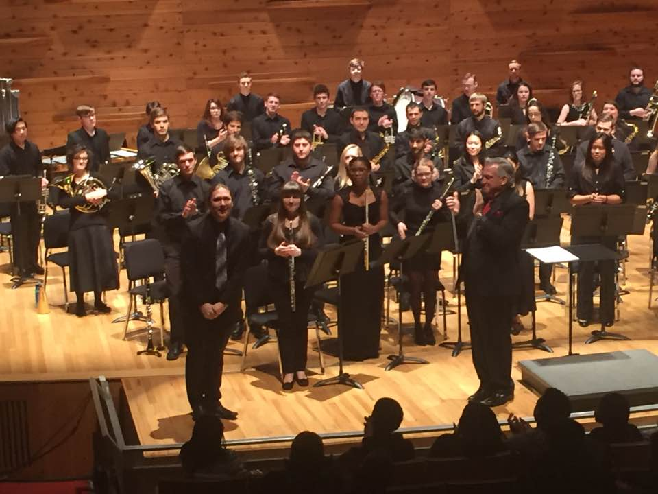 "After the premiere of ""Roaming Through Forgotten Dreams"" with Darryl Bott and the Rutgers Symphonic Winds!"