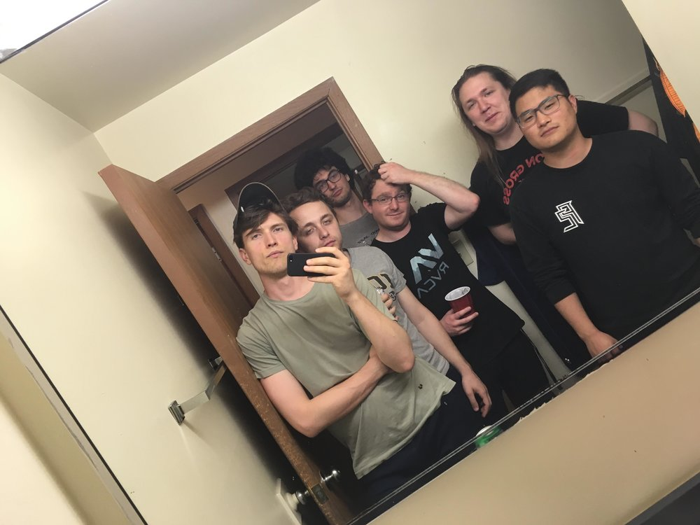 Our mandatory bathroom selfie. Andrew Burke, Niko Schroeder, Livio Fasullo, Tom Yaron, myself, and Stephen Ai.