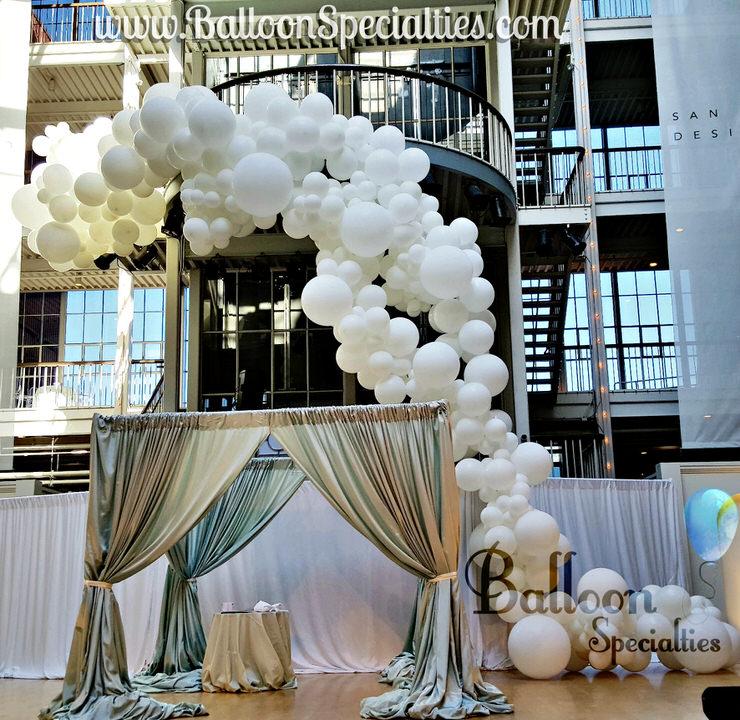 An Amazing Balloon Garland for a San Francisco Wedding! We also make Balloon arches, custom balloon sculpture and even a fun Minnie Mouse balloon arch.