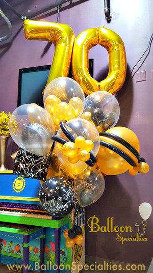 BRANDED 70 Number Top Specialty Bouquet Balloon Specialties