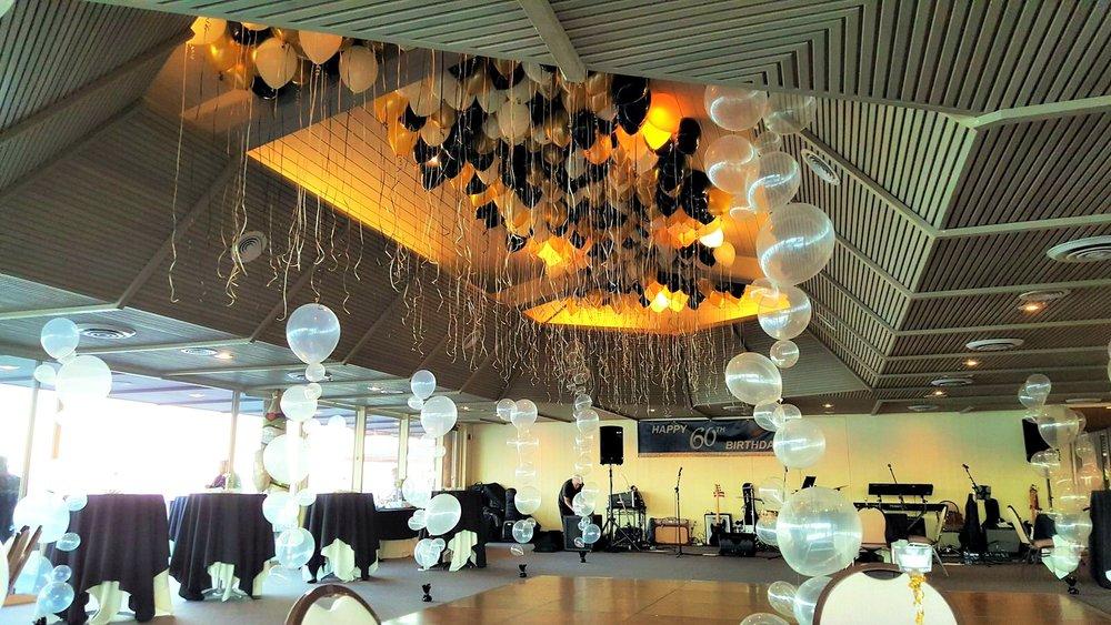 Bubble Balloon Strands and Loose Balloons Marin Spinnaker Restuarant.jpg