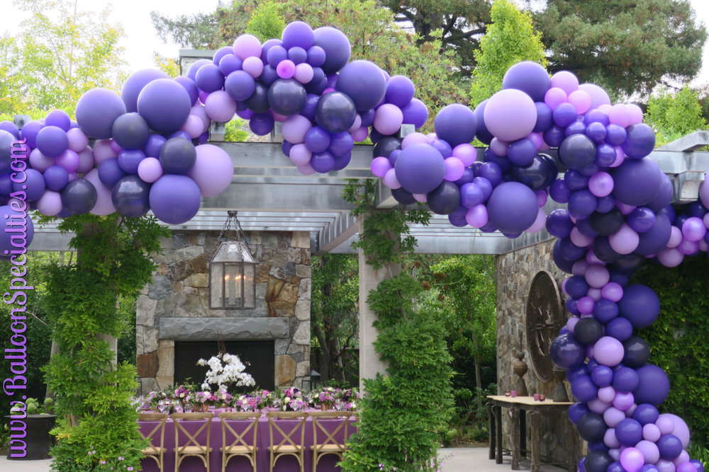 Balloon Garland Birthday Party Zim Balloon Specialties .jpg