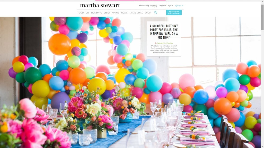 Martha Stewart Fiesta Color Balloon Garland Zim Balloon Specialties San Francisco.jpg
