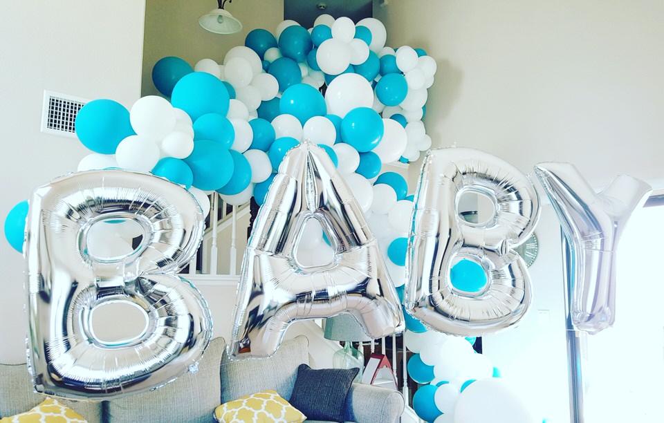 Baby Shower Garland Megaloon letter balloons Santa Rosa.jpg