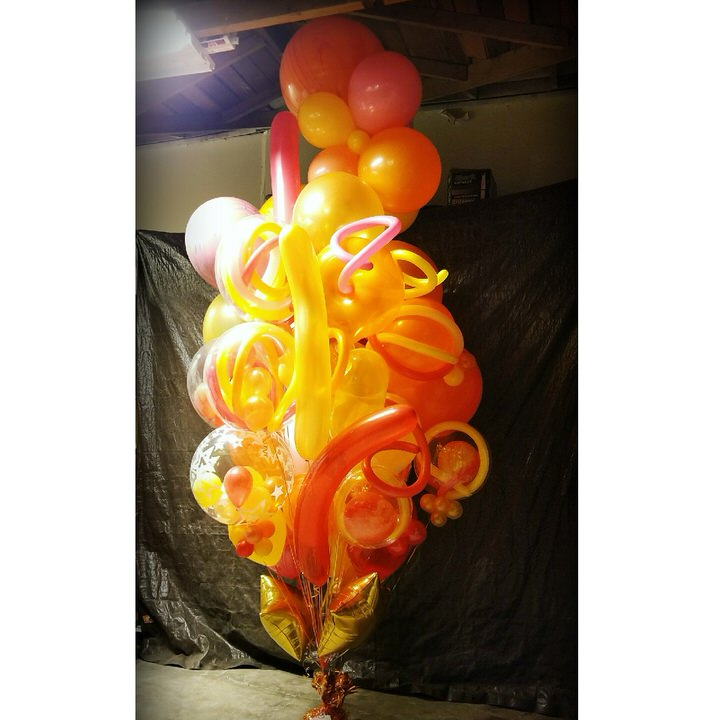 Big Birthday Balloon Bouquet Sant Rosa Send Balloons