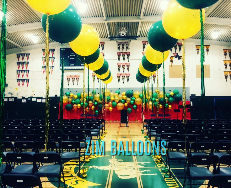 Napa Silverado High School 3Ft Balloons tassle fringe sf bay Balloons - Zim Balloons.jpg