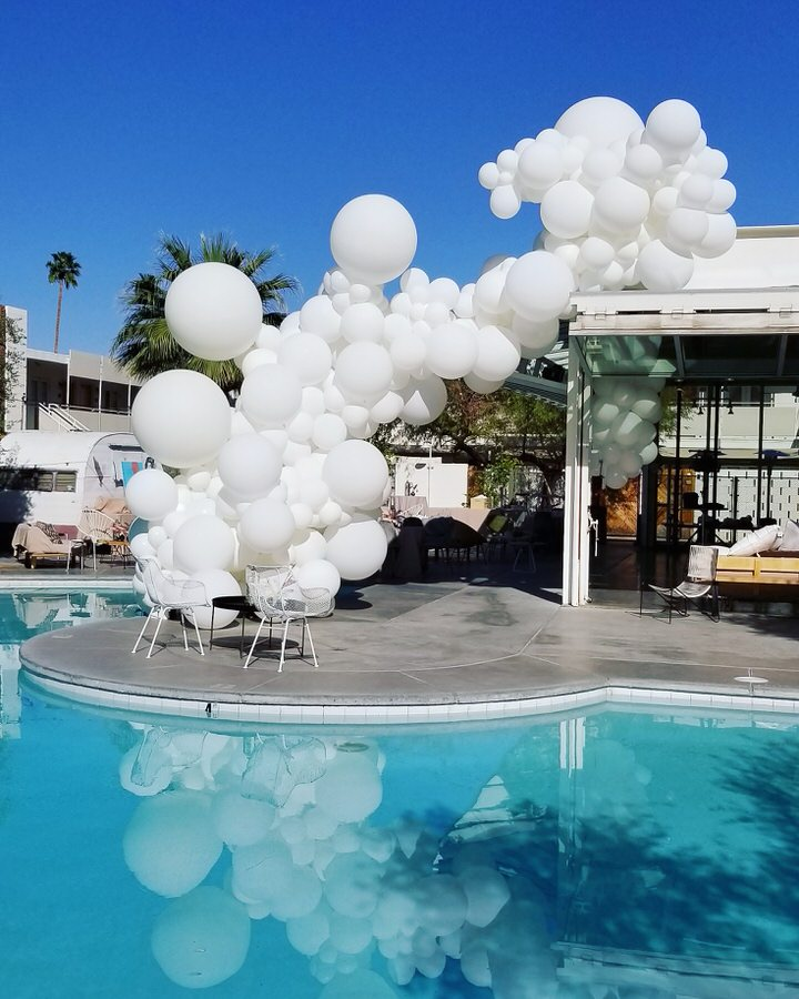 Three Decadent Bridal Shower Balloon Bouquets. Elegant wedding balloons are always a hit.