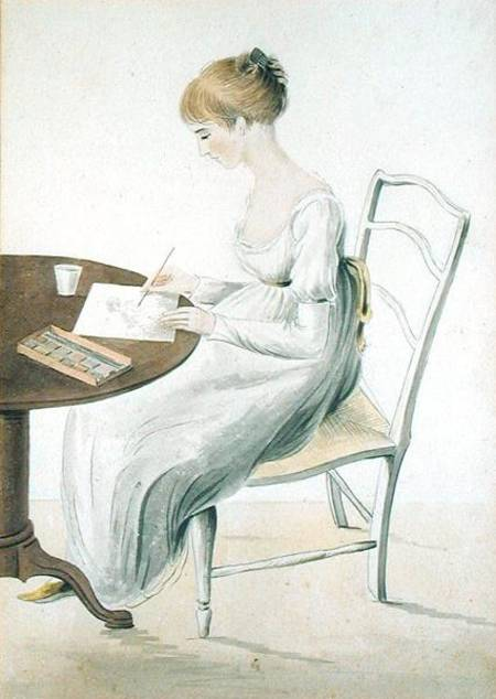 Cassandra Austen's watercolour portrait of Fanny Knight