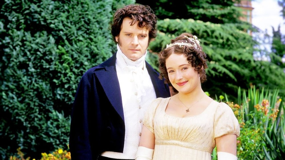 Colin Firth and Jennifer Ehle as Mr Darcy and Elizabeth Bennet in BBC Television 1995 mini-series  Pride & Prejudice
