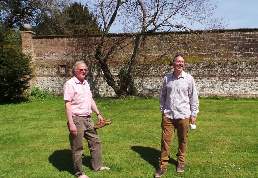 Jeremy Knight with Chawton House's head gardener, Andrew Bentley, May 2016