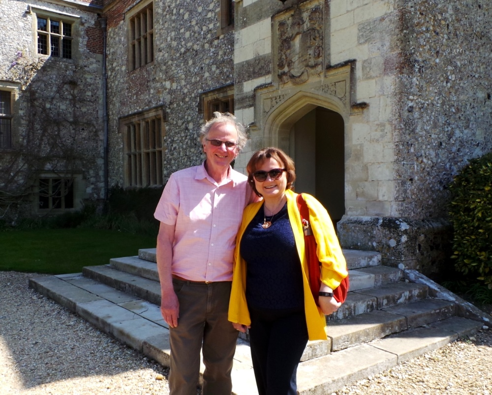 Jeremy Knight and J.B. Grantham by the main entrance to Chawton House, May 2016