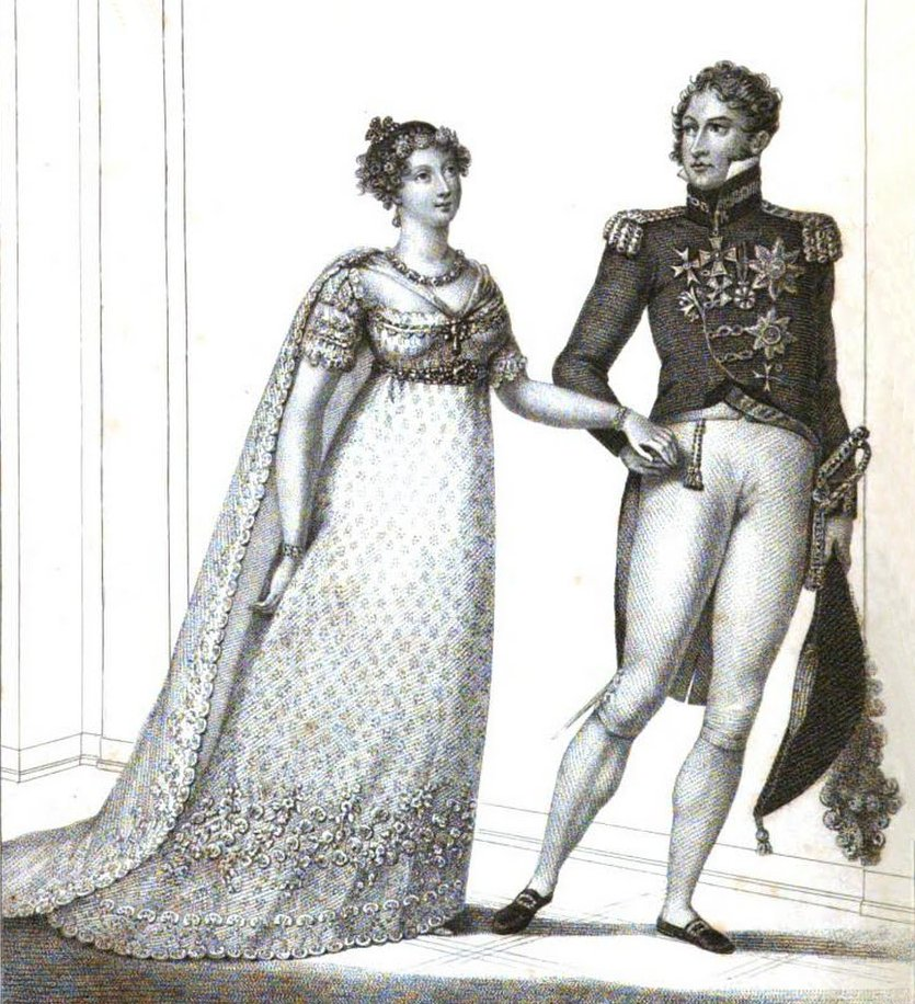 The marriage of Princess Charlotte of Wales and Prince Leopold published in  La Belle Assemblée ( June 1816)