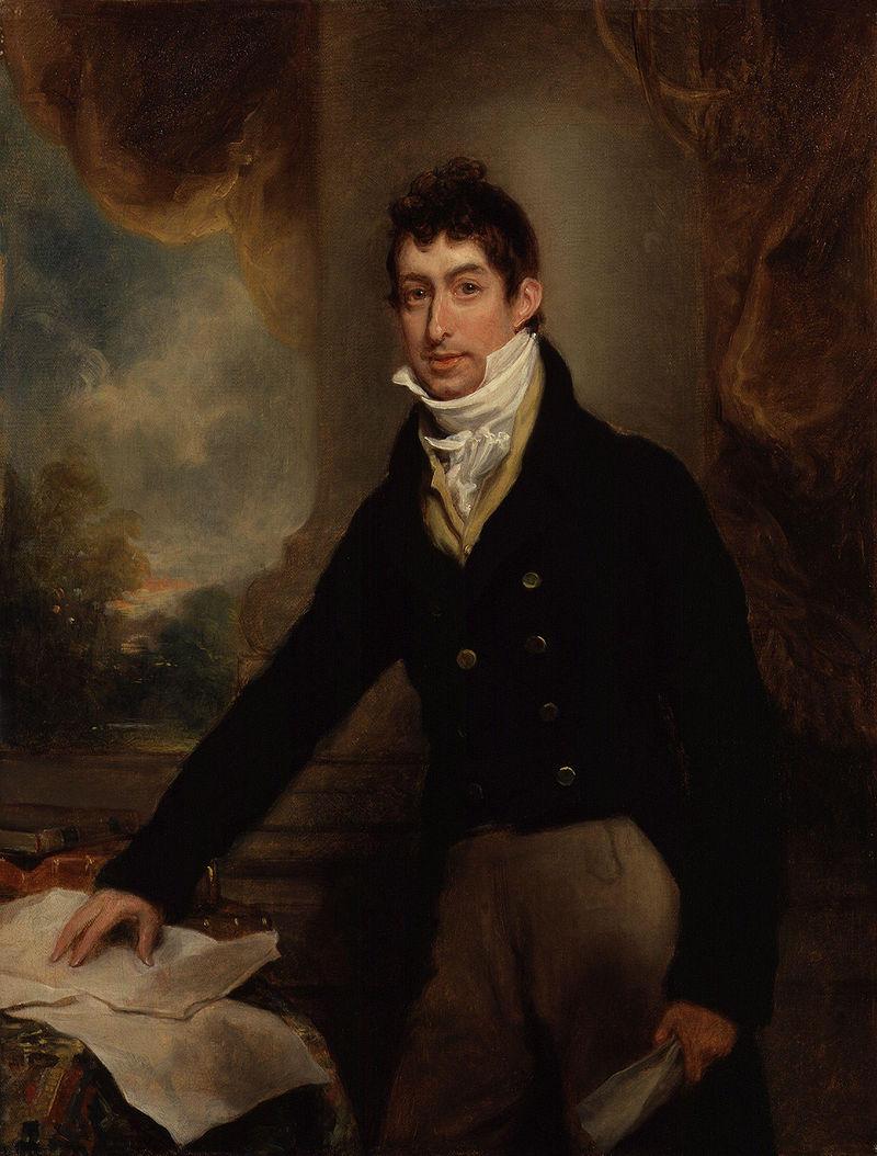 Gwyllym Lloyd Wardle  by Arthur William Devis (1809)