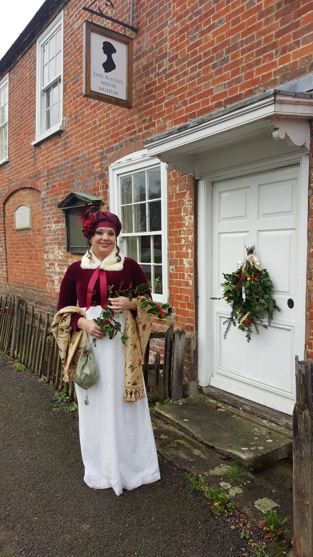 Rita L. Watts outside the Jane Austen's House Museum