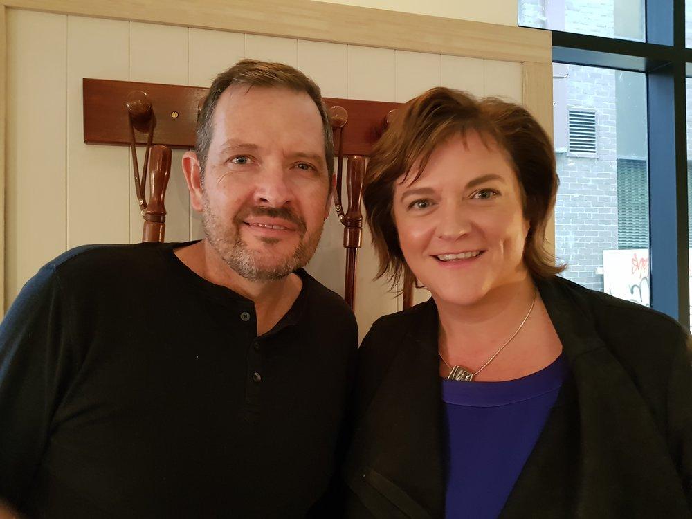 Dan Billing and Caroline Jane Knight.  Credit: Caroline Jane Knight