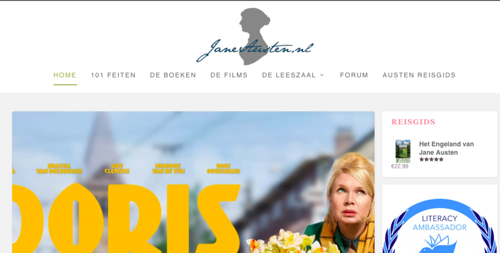 JaneAusten.nl homepage