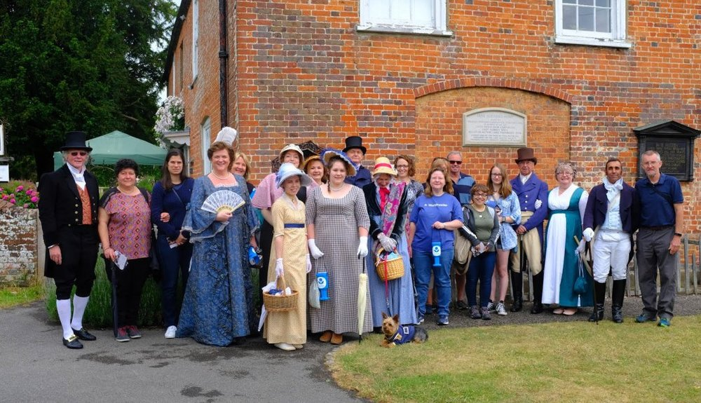 Our brilliant participants on the Jane Austen Walk for Literacy.  Credit: Tony Grant.