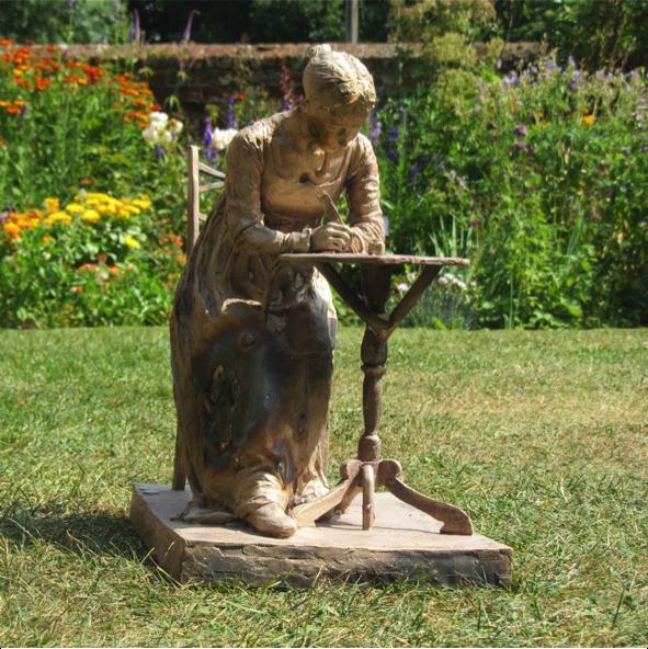 Jane in the garden at Chawton.  Credit: Robert Truscott