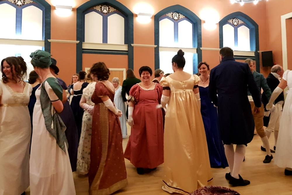 What fun! Dancing with friends at The Assembly Room Ball.  Credit: Julia Grantham