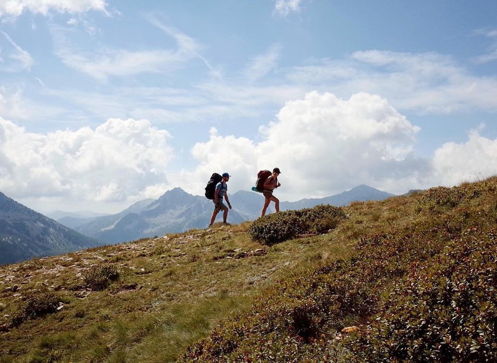 """We love being outdoors, so hiking is part of our daily lives."""