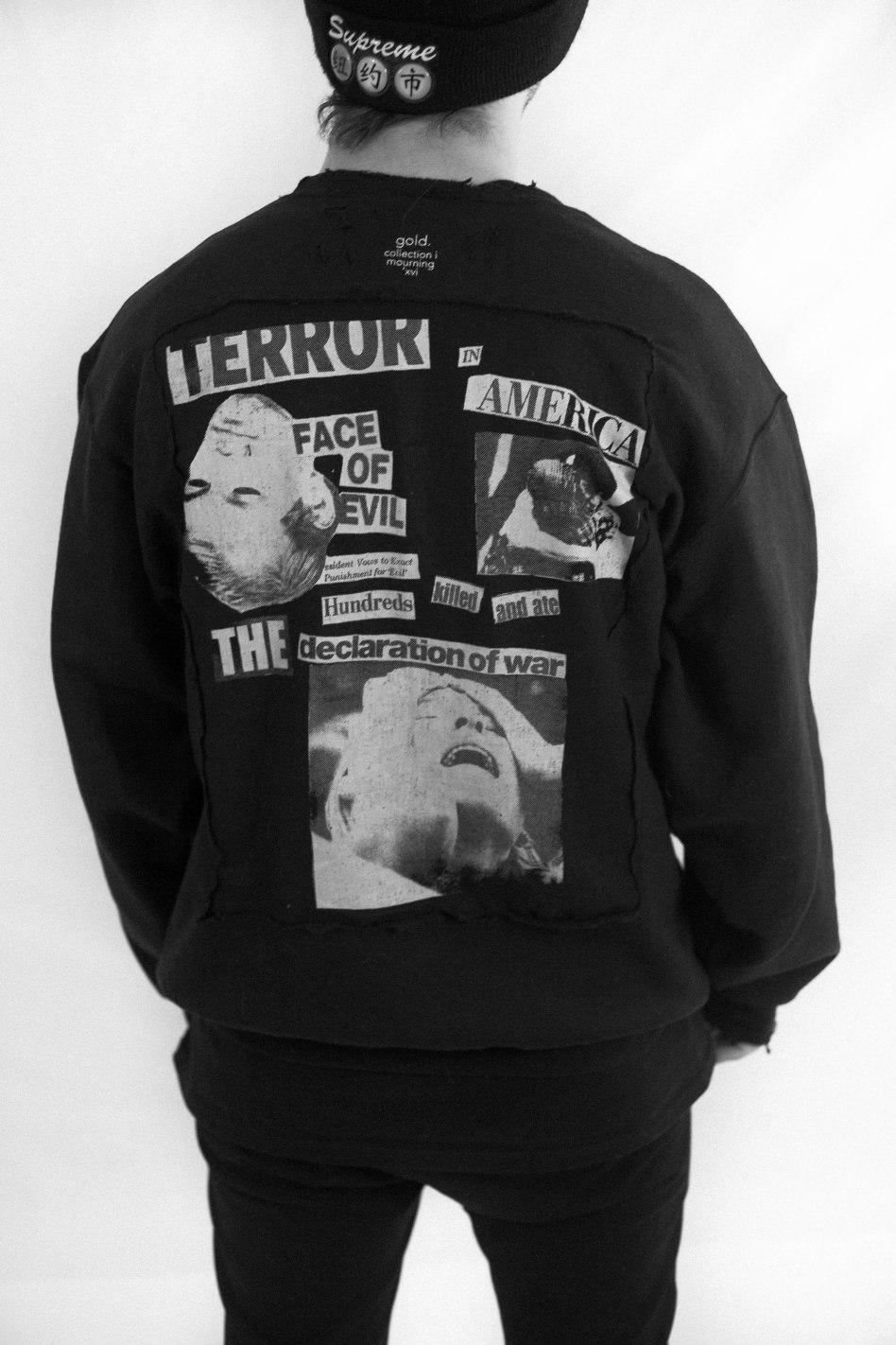 """Terror"" long-sleeve shirt."