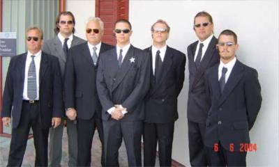 Kungens vakter: f.v. Gunnar Englund, Martin Säfström, Gunnar Lindquist, Ramin Raissi, David Larsén, Magnus Säfström, Emil Thyberg.