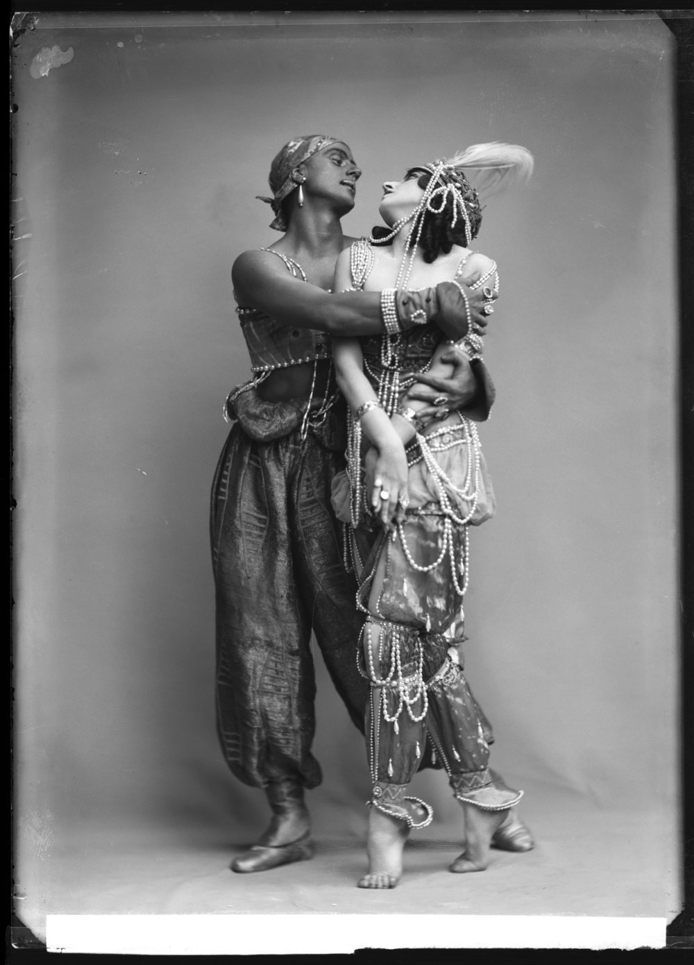 Mikhail Fokin and Vera Fokina in the ballet Scheherazade, 1914