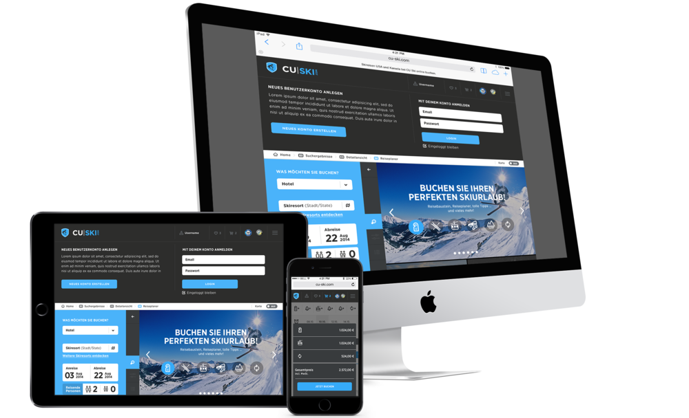 CU Travel Ski Digital Branding