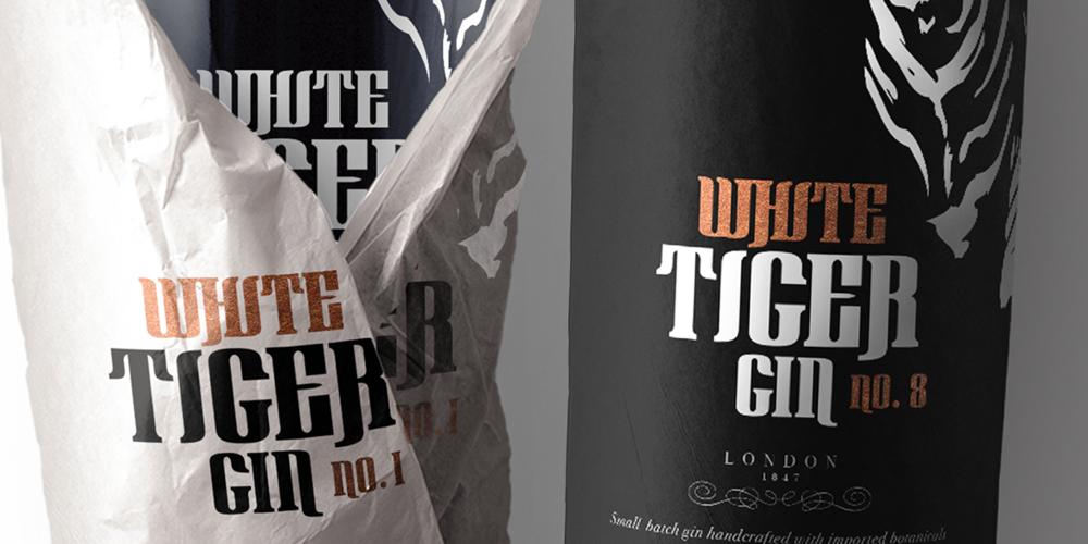White Tiger Gin Packaging