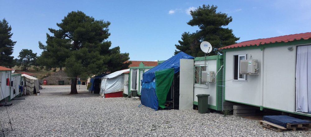 Temporary settlement in Greece for migrants and asylum seekers. Photo: Smruti Patel