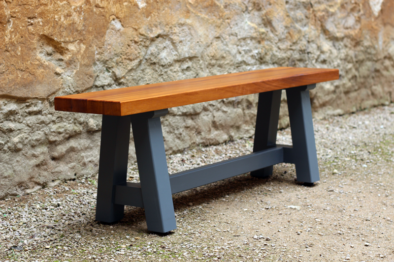A-frame bench by  OP Woodcraft